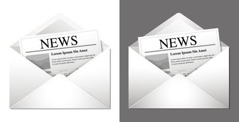Newsletter Icon (two versions - light and dark background)
