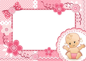 Pink baby frame.