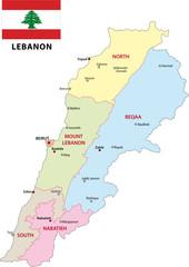 Libanon, Administrativ