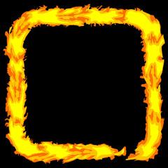 Abstract fire color grungy border Vector frame