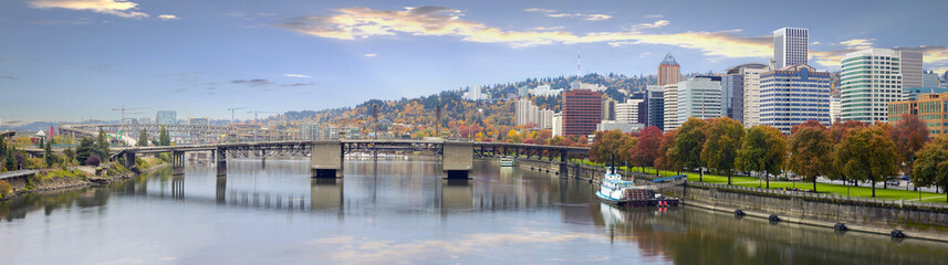 Wall Murals Bridges Portland Oregon Downtown Skyline and Bridges
