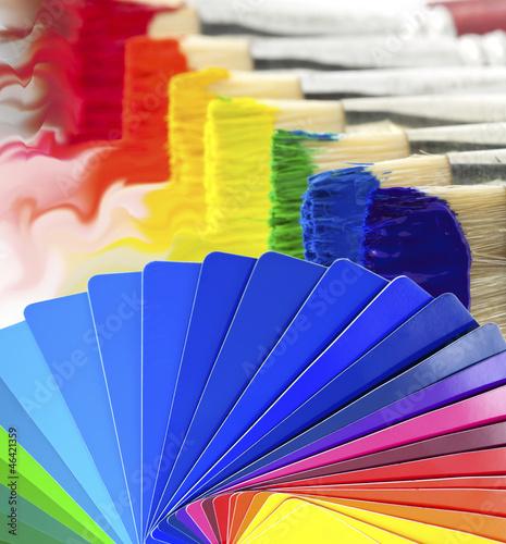 nuancier peinture pinceaux photo libre de droits sur la banque d 39 images image. Black Bedroom Furniture Sets. Home Design Ideas
