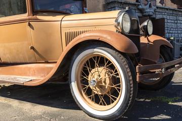 Rusty classic car