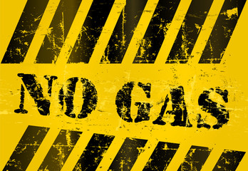 NO GAS warning sign, grungy, vector eps 10