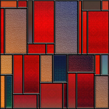 Seamless textured stained glass panel