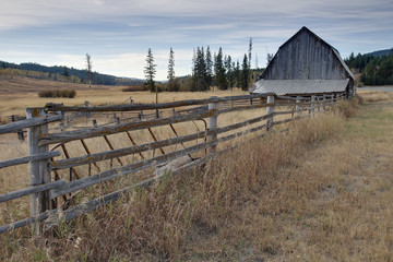 Barn and Fence, Nicola Valley, British Columbia