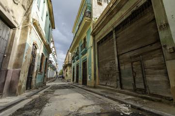 Empty old street in Havana, Cuba