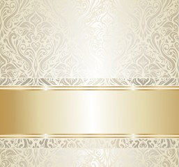 gold  & silver vintage wallpaper