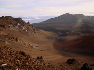 A view into the Haleakala National Park, Maui, Hawaii.