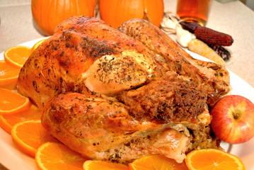 Thanksgiving Turkey with Orange Slices