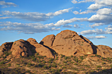 Sandstone buttes at Papago Park in Phoenix Arizona