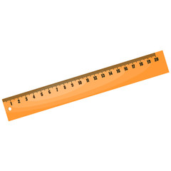 Cartoon wood ruler. eps10