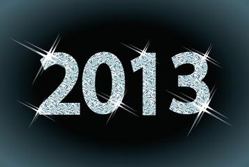New diamond 2013 Year, vector illustration