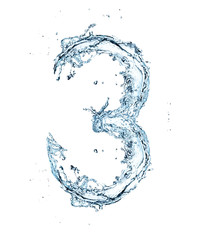 Number of water alphabet