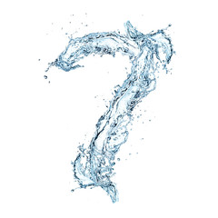 Number of water alphabet