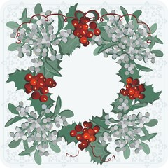 the mistletoe red and white