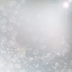 white lights on grey background, christmas background