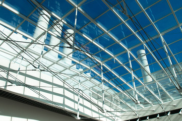 Industrial glass roof
