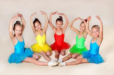 Group of little ballet dancers