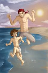 Sommer Sonne Strand Urlaub Spaß