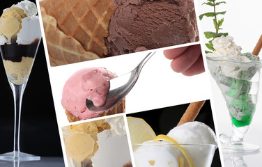 Ice cream themed collage