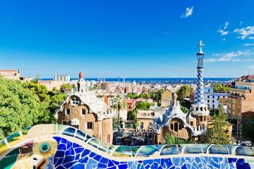 Autocollant pour porte Barcelona Park Guell in Barcelona, Spain.