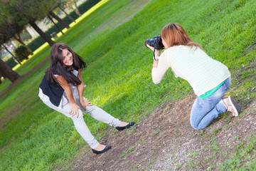 Female Photographer and Model