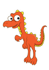 Tyrannosaurus rex vector cartoon