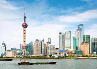 Aluminium Prints Shanghai shanghai skyline
