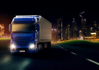 Wall Mural - Truck at Night