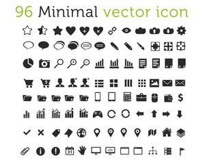96 Minimal vector icons