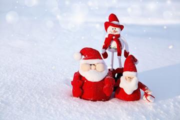 Christmas Snowman and Santa