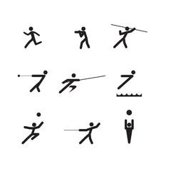 sport logo silhouettes