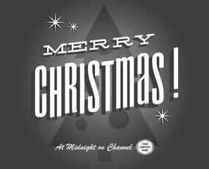 Merry christmas vintage tv show and cinema