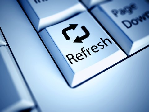 Keyboard and Refresh button, internet concept