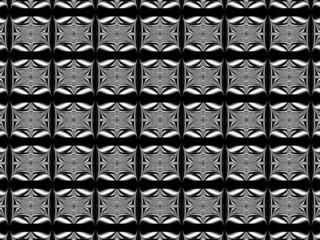 Black & white pattern wallpaper