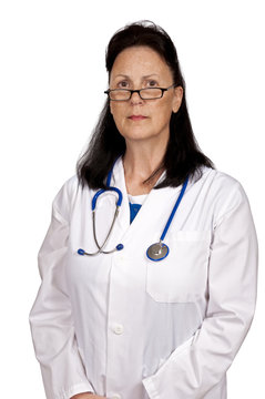 Mature Doctor Looking Serious