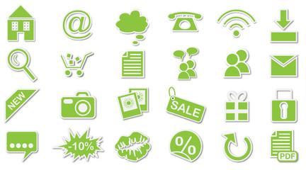 Website Iconset grün
