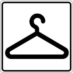 Papier Peint - Schild weiß - Garderobe