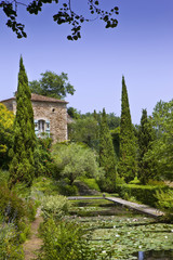 Wall Mural - Maison, campagne, jardin, parc, charme, immobilier