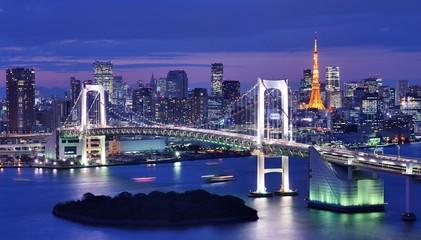 Foto auf AluDibond Tokio Tokyo Bay