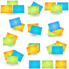 Colored Envelope Icon Collection.