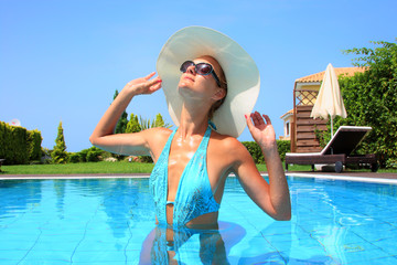female in swimming pool