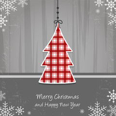Merry Christmas and Happy New Year - tree
