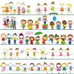 Cartoon peoples