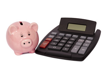 Calculator With Pig Bank