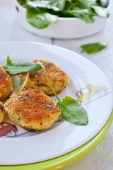 potatoes croquette with dock