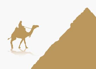 Egypt background - vector illustration