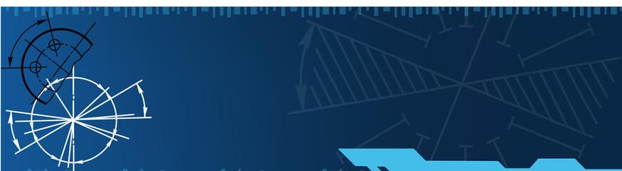 techno banner. vector