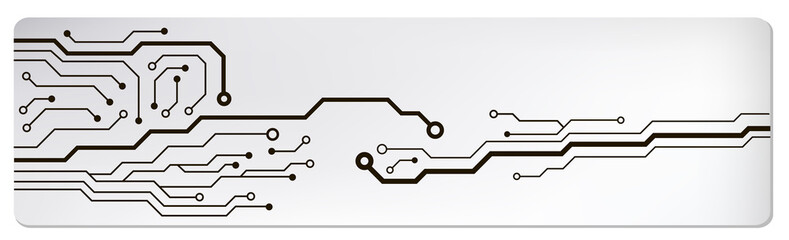 circuit techno banner. vector illustration